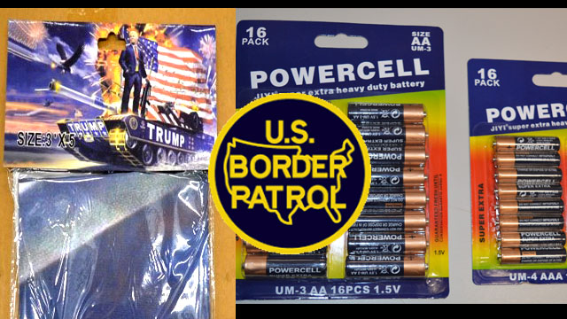 Counterfeit Batteries, Hats and Flags