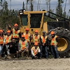 FIRST NATION TRAINEES  HARVESTING SKILLS DEEP IN THE OGOKI FOREST
