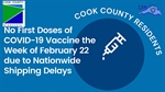 Extreme weather has caused delays in COVID vaccine Cook County