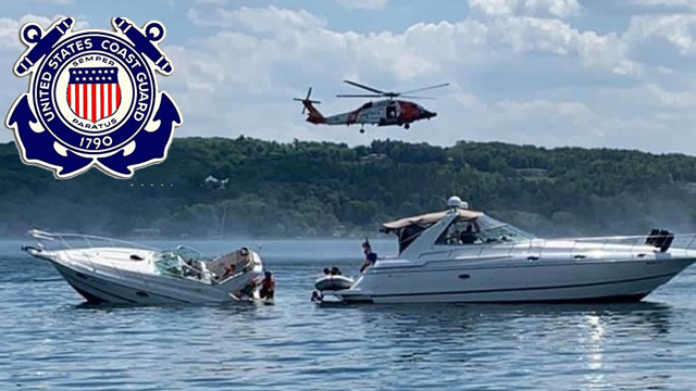 Coast Guard rescues 10 people from the water in Traverse City