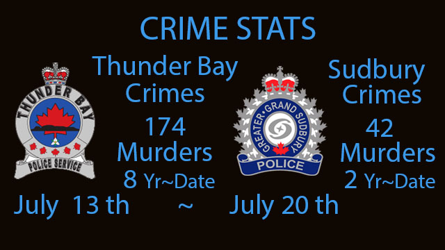 Crime Stats July 13 2020 to July 20, 2020