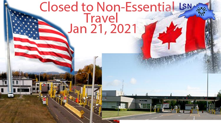 U.S./Canada border closure extended until January 21