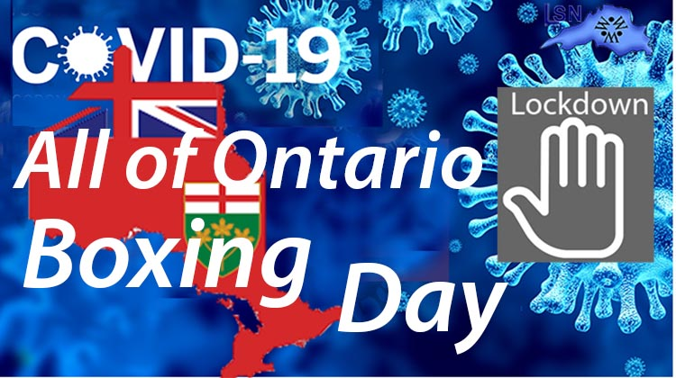 Ontario Shuts down Ontario starting Boxing Day