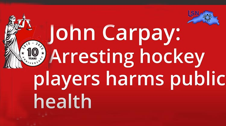 Arresting hockey players harms public health
