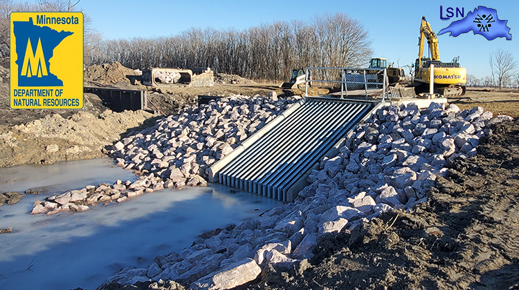 Water control structure, fish barrier project