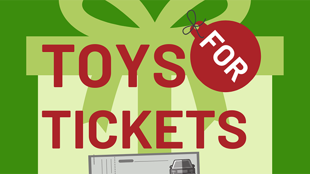 Toys for Tickets campaign begins November 1, 2019