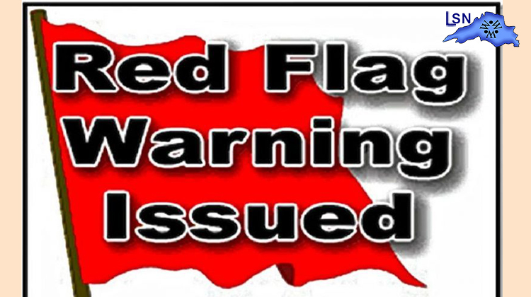 Red Flag Warning issued for Thursday