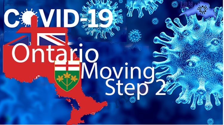 Ontario Moving to Step Two  to Reopen on June 30