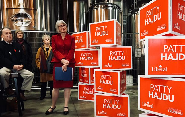 Patty Hajdu  to carry  the Liberal Banner