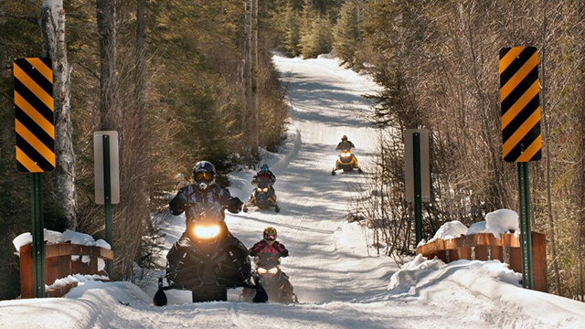 Cook County offers 450 miles of snowmobile trails