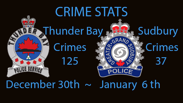 Crime Stats December 30rd to January 6, 2020