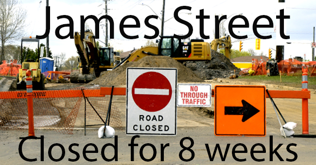 James Street To be closed for 8 weeks