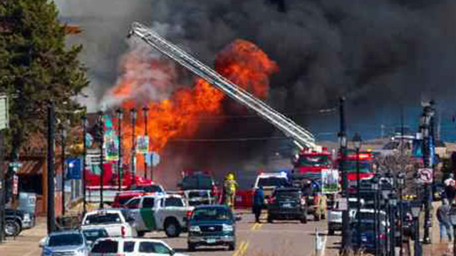 Fire Downtown Grand Marais