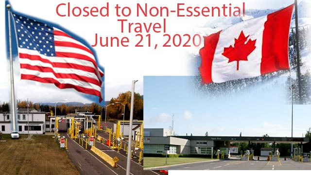 Border to Remain Closed for non-essential Travel
