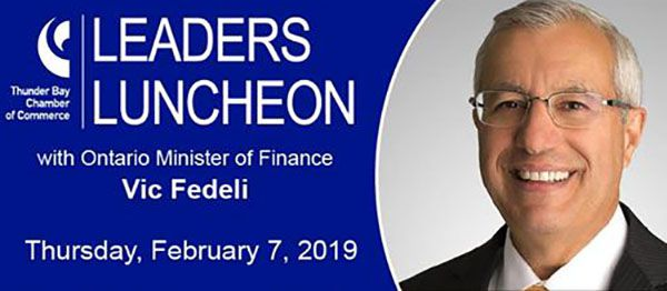 Ontario Minister of Finance, Vic Fedeli   Lake Superior News
