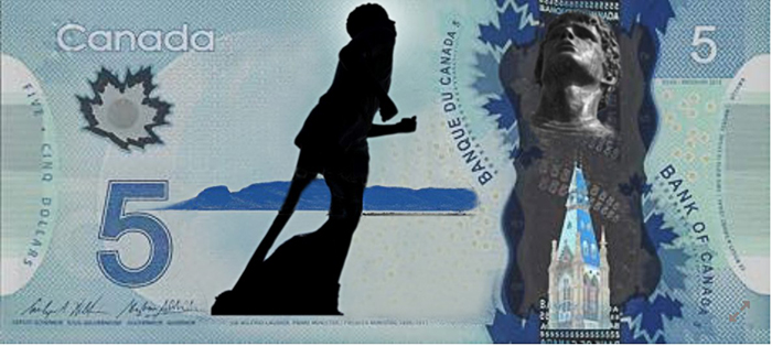 Terry Fox Five Dollar Bill by Ron Drillen  Lake Superior News