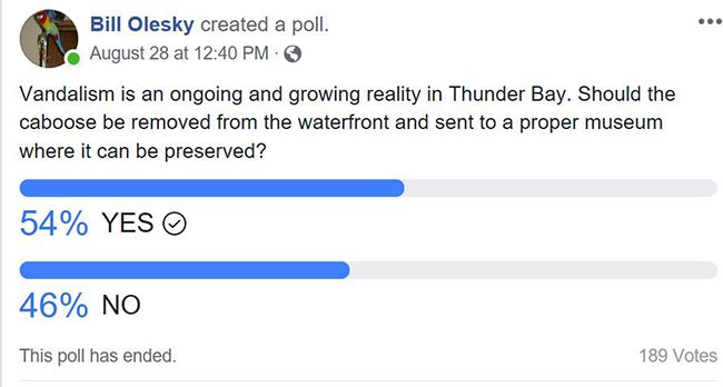 Bill Olesky Caboose Poll  Lake Superior News