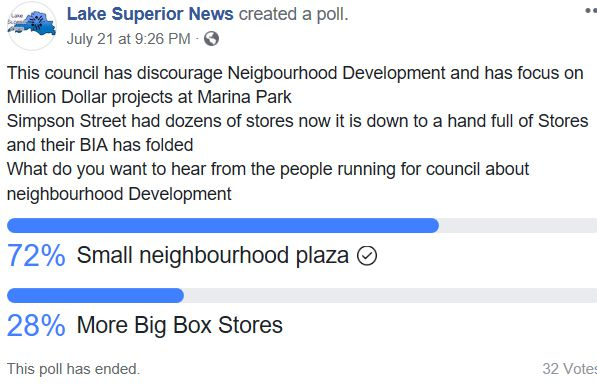 Poll Neigbourhood Development  Lake Superior News