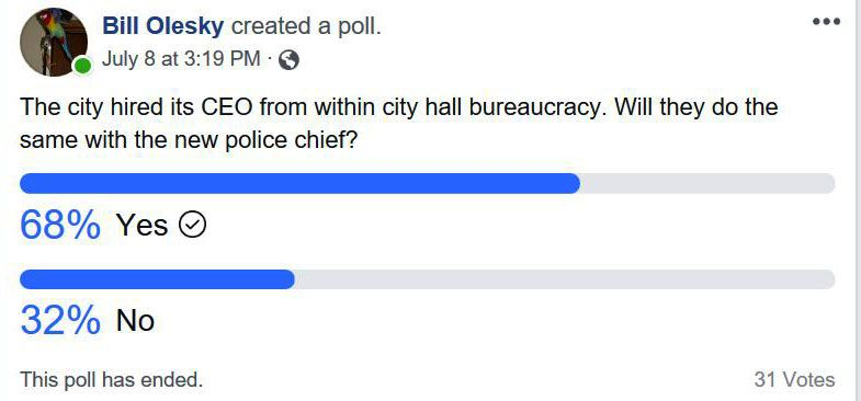 Police Chief Poll Lake Superior News