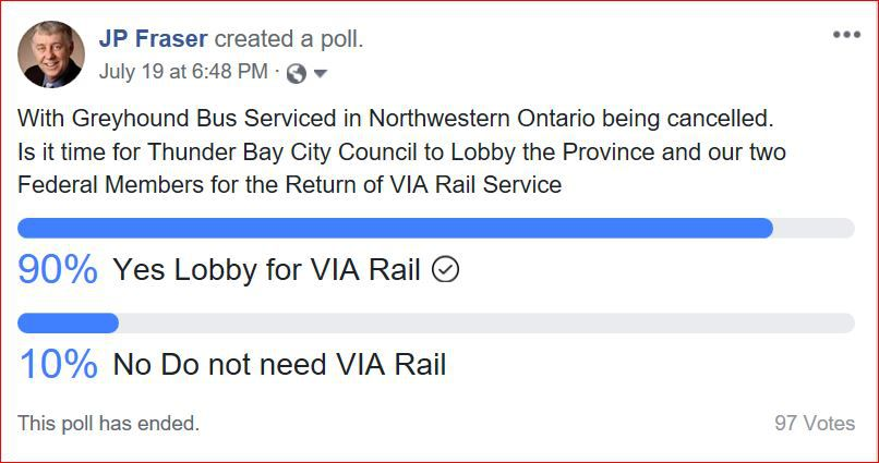 Election Poll Thunder Bay  Lake Superior News
