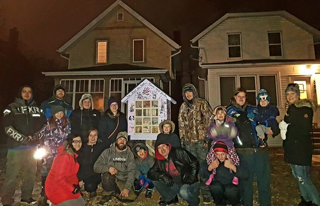 The Grean Team with Blessing Box   Lake Superior News