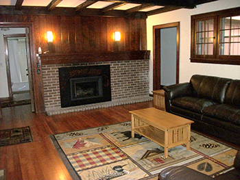 Living Room Redwood Lodge Camden State Park  Lake Superior News