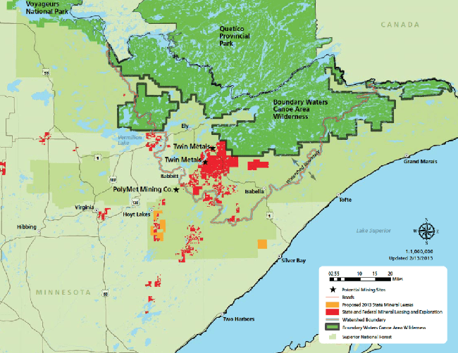 Boundary Mining Map   Lake Superior News