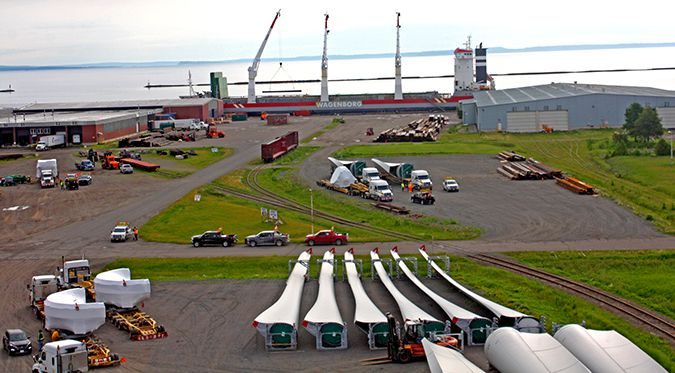 Port of Thunder Wind Turbines  Lake Superior News