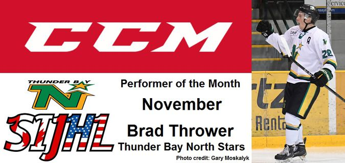 North Stars Brad Thrower SIJHL performer for November  Lake Superior News