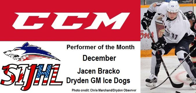 that Dryden GM Ice Dogs forward Jacen Bracko   Lake Superior News