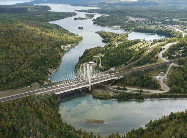 Nipigon River Bridge All 4 lanes open   Lake Superior News