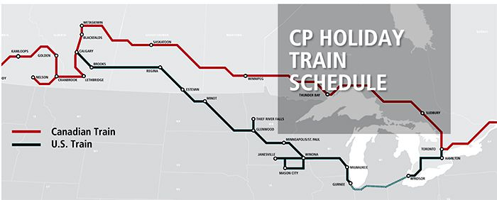 CP Holiday Train Route 2018   Lake Superior News