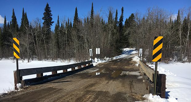 the Cross River Bridge on North Gunflint Lake Road  Lake Superior News