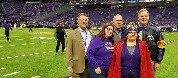 Cook County Employee at Viking Game   Lake Superior News