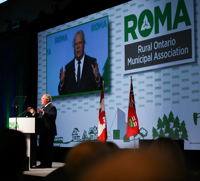 Premier Doug Ford spoke at the 2019 Rural Ontario Municipal Association (ROMA) conference  Lake Superior News