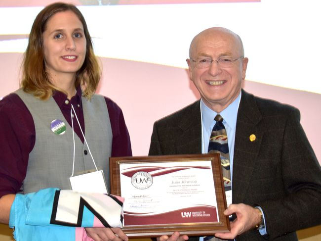 Julia Johnson, UW-Superior Alum, Receives Dr. P.B. Poorman Award  Lake Superior News