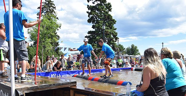 Log Rolling Grand Marais,  Lake Superior News