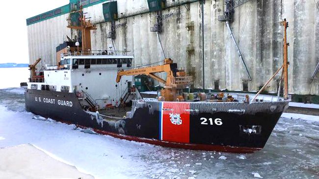 UGC Alder Breaking Ice in Thunder Bay   Lake Superior News