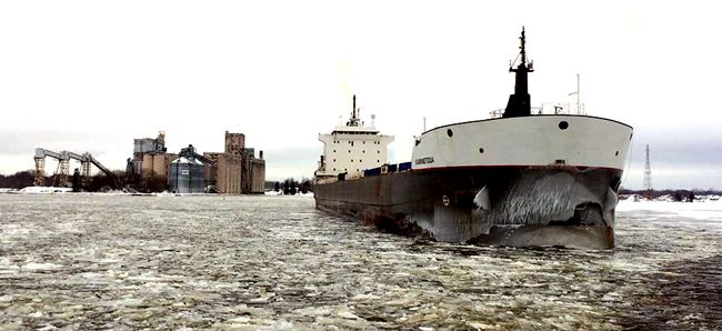 MV Kaministiqua last ship  Port of Thunder Bay Shipping Season  Lake Superior News