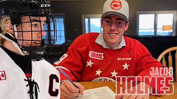 Jacobs Holmes commits to Soo Greyhounds   Lake Superior News