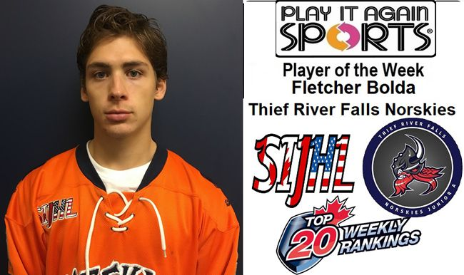 Thief River Falls Norskies goaltender Fletcher Bolda   Lake Superior News