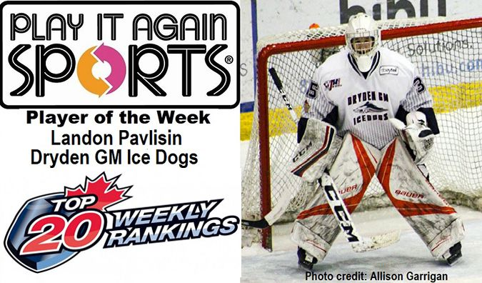 Ice Dogs goaltender Landon Pavlisin   Lake Superior News
