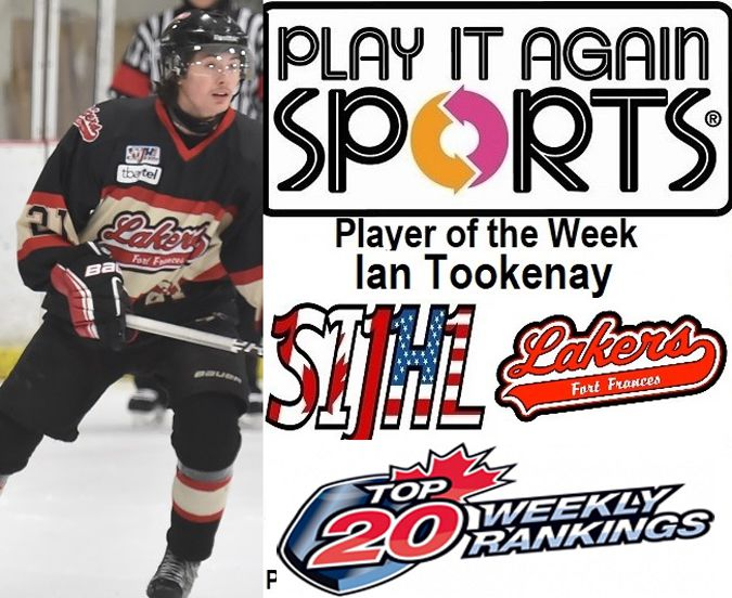 Fort Frances Lakers Ian Tookenay  Lake Superior News