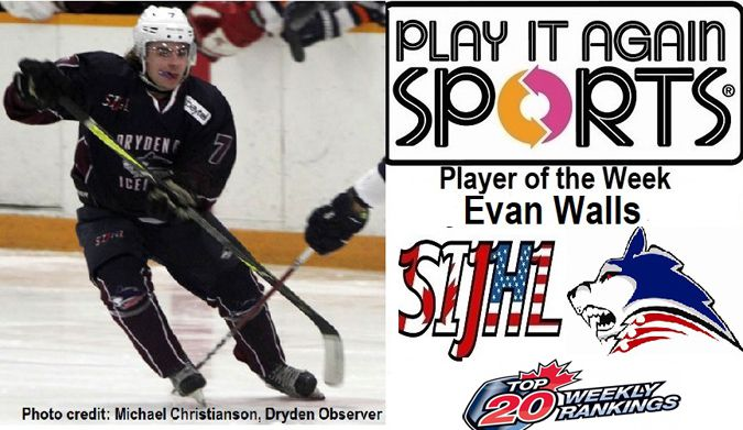 Dryden GM Ice Dogs forward Evan Walls  Lake Superior News