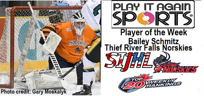Thief River Falls Norskies goaltender Bailey Schmitz  Lake Superior News