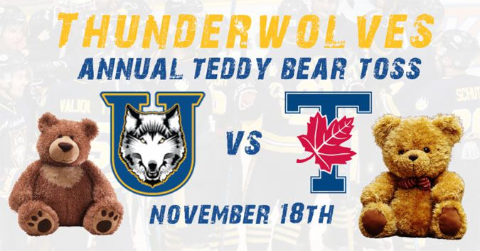 THUNDERWOLVES ANNUAL TEDDY BEAR TOSS  Lake Superior News