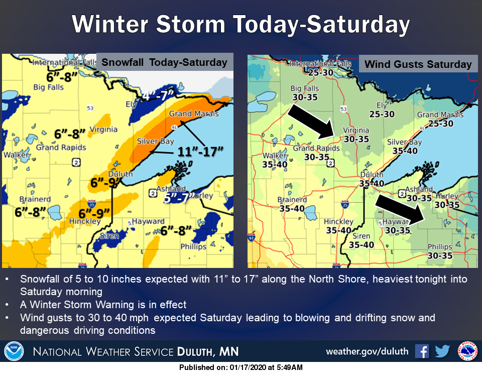 January 17 - 18 Winter Storm  Lake Superior News